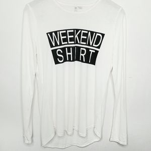 Cato Long Sleeve Graphic Weekend Shirt